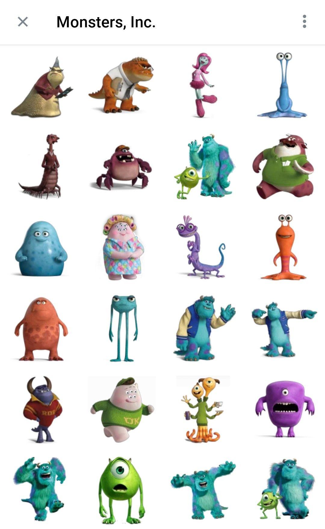Monster Inc Telegram Sticker Packs Monsters Inc Characters Cartoon Monsters Monster Inc Costumes