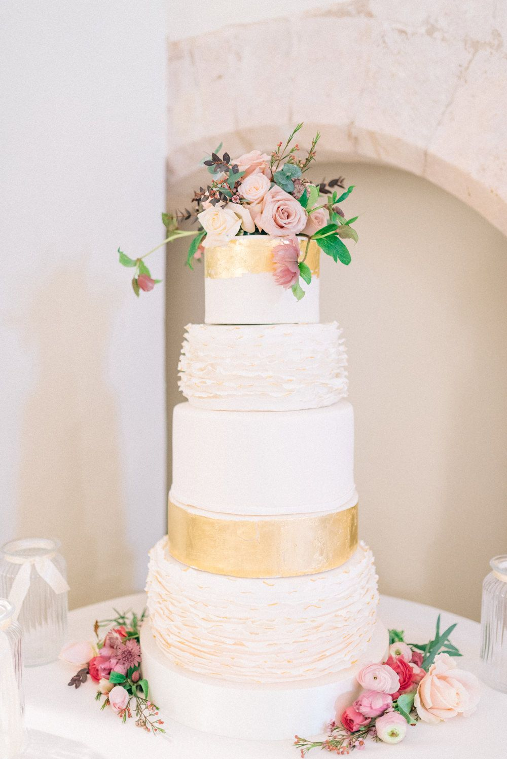 Pink & Gold Winter Wedding at Farnham Castle in Surrey | Elegant ...