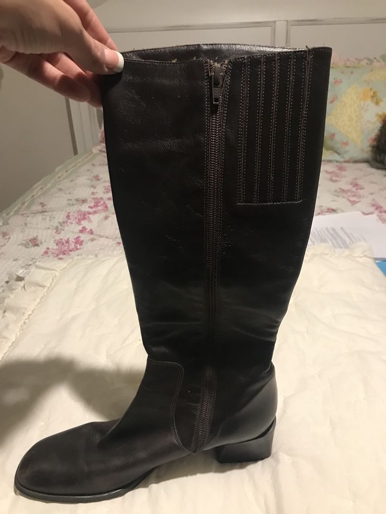 da530c10ede Sudini Brown Leather Boots Size 10 B Heel 2