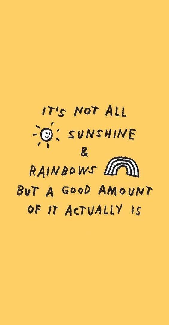 Photo of sunshine and rainbows