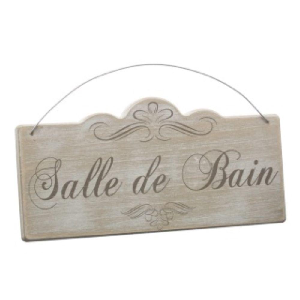 Lambris Pvc Salle De Bain Bricoman ~ Salle De Bain Wood Sign Plaque Bathroom Vintage French Shabby Chic