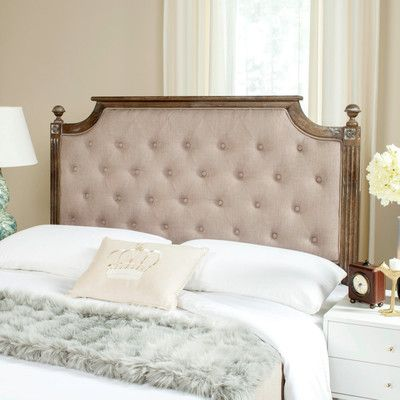 Rosalind Wheeler Harlech Upholstered Panel Headboard Color: Taupe ...
