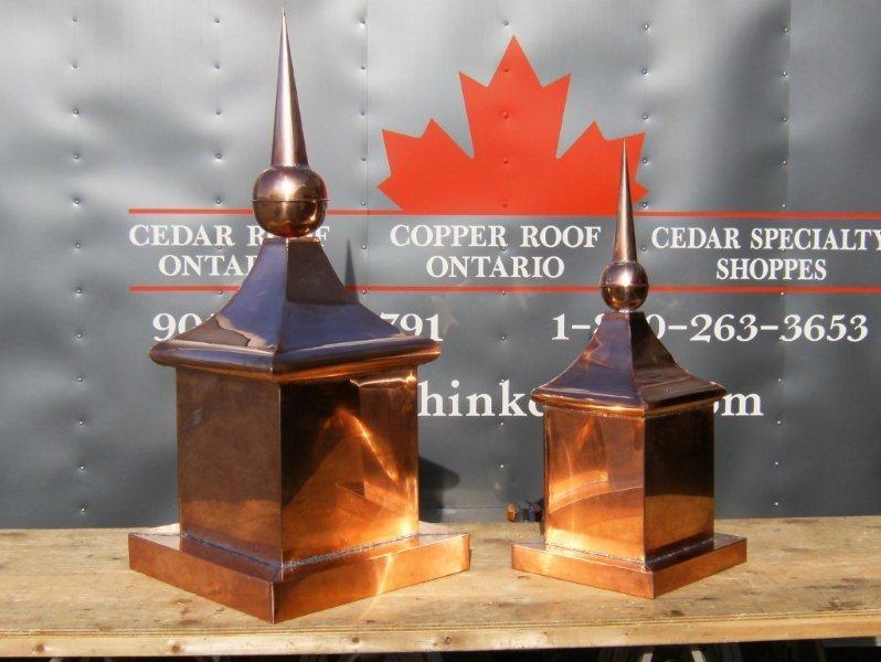 Copper Cupolas Finials Weather Vanes Cedar Roof Picasa Web Albums Copper Roof Finials Cedar Roof