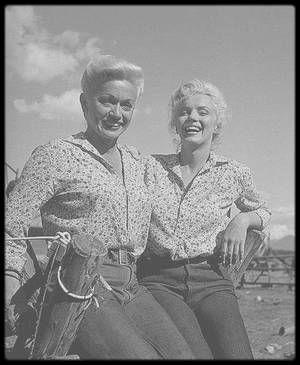 1953 / Sur le tournage de River of no return ; Au