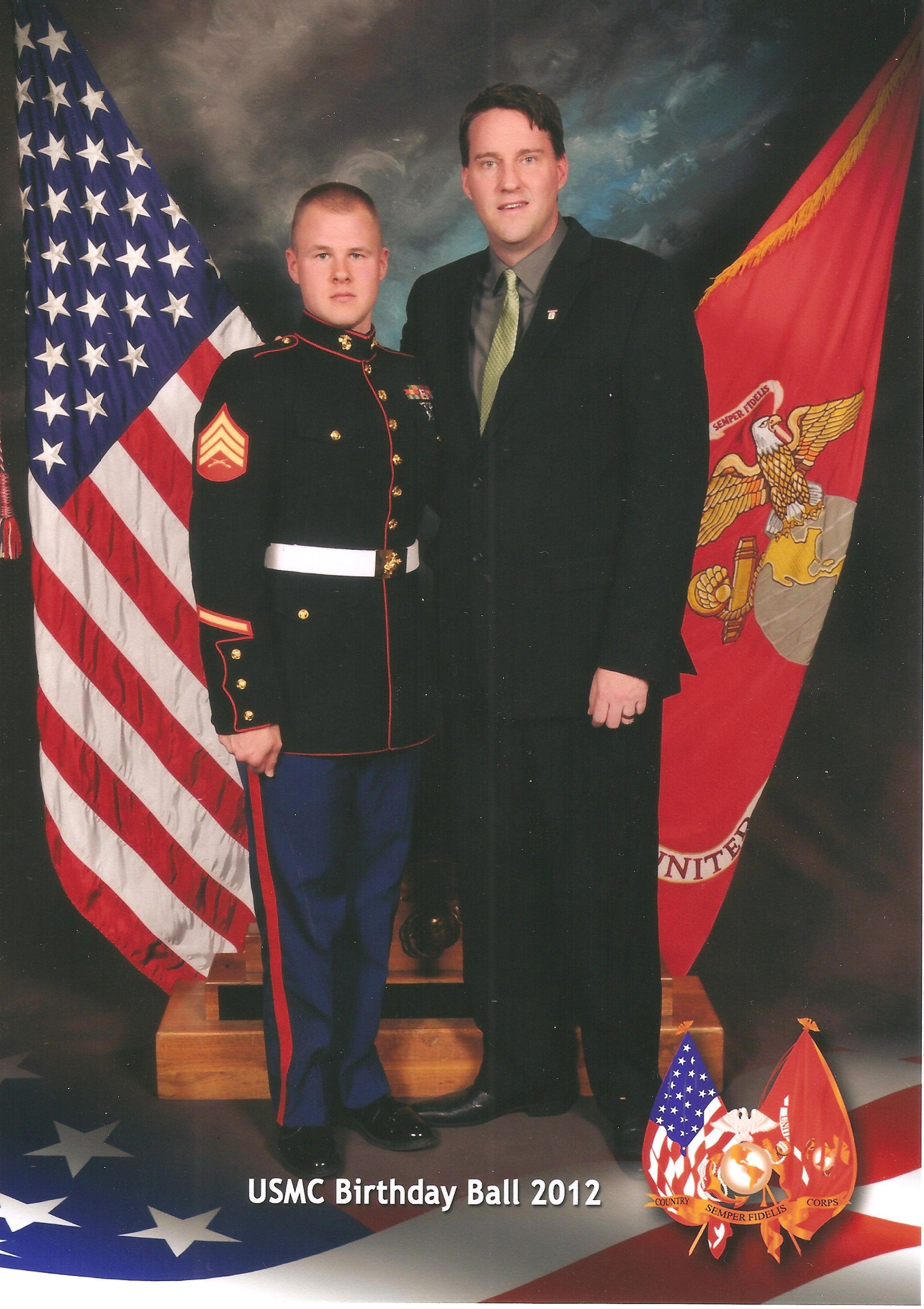 Brandon and I at this years Marine Corps Ball. Marine