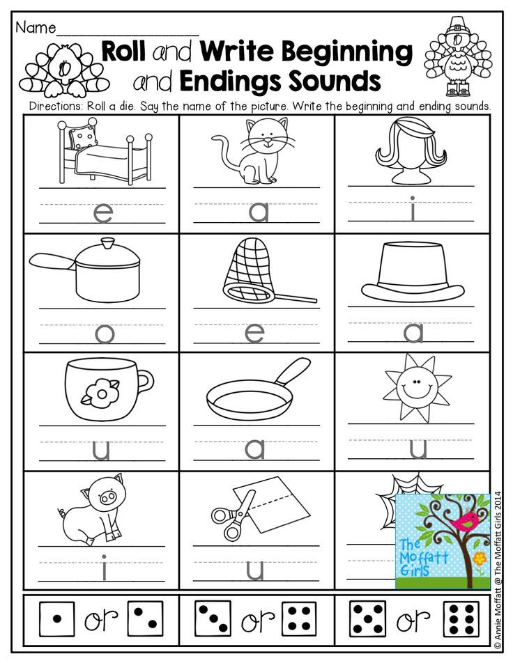 Printable Worksheets writing cvc words worksheets : CVC words (BEGINNING and ENDING sounds)! Roll a die, and write the ...
