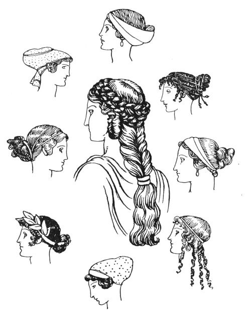 Ancient Greek Hairstyles Google Search Griechische Kleidung
