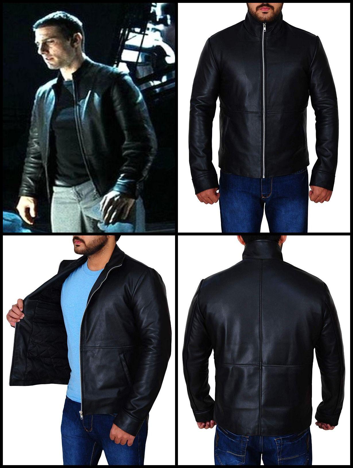 Tom Cruise Minority Report Chief John Anderton Jacket Jackets Leather Jacket Black Toms [ 1630 x 1230 Pixel ]