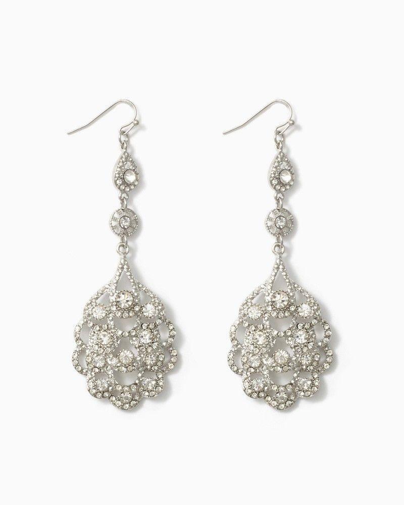 charming charlie Scalloped Sparkle Earrings UPC 410006676497