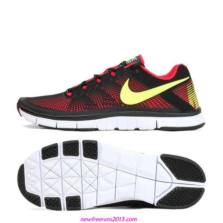 best website 2748e 28617 Nike Free Runs Trainer 3.0 Cym Red Black Yellow 553684 600