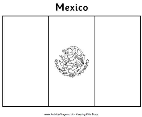 Mexico flag colouring page | For kids | Pinterest | Mexico flag ...