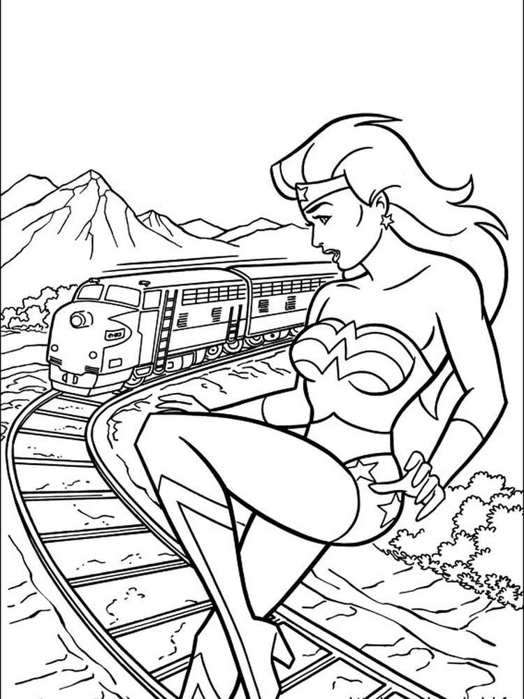 Wonder Woman Coloring Pages Printable Free Coloring