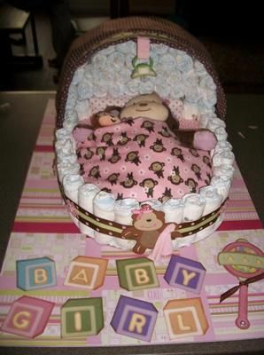 Unbelievable I Luh Love This Bassinet Diaper Cake So