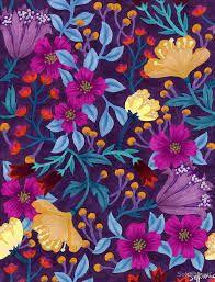 Image result for purple floral pattern