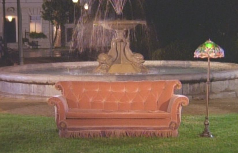 Friends opening - couch, lamp, fountain   random things I ...