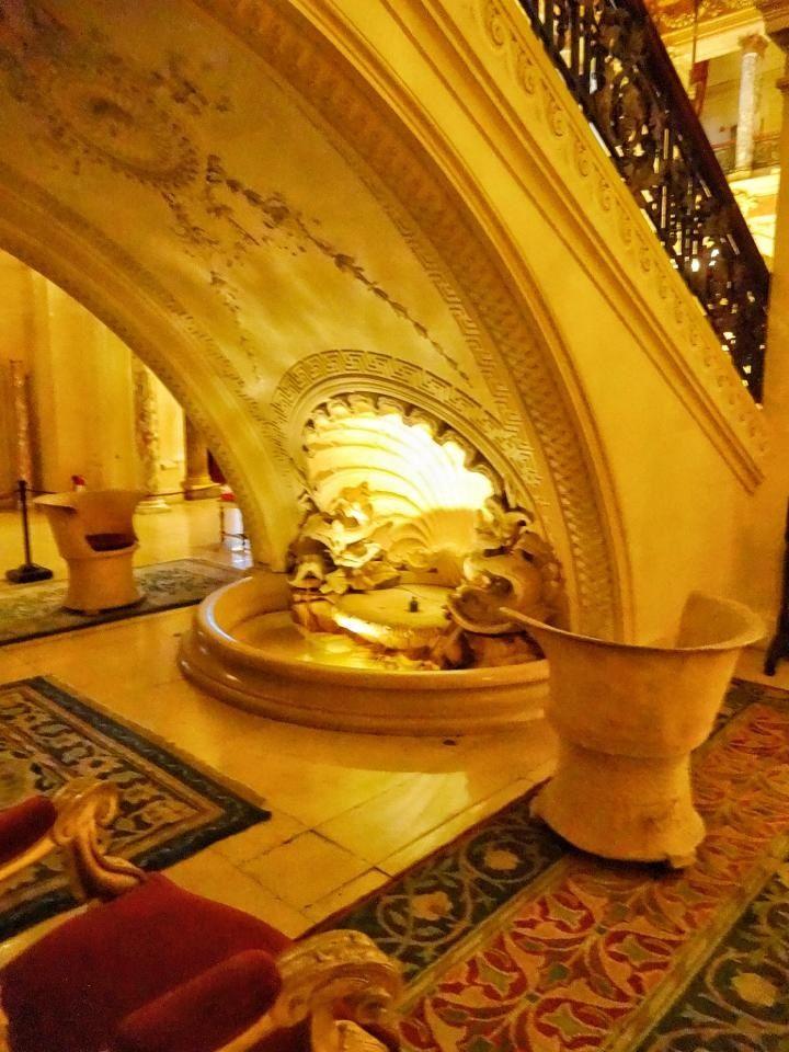 Fountain Under Grand Staircase The Breakers Vanderbilt Mansion