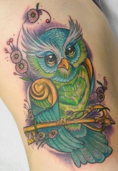 Sowa Z Kluczem Tatuaż Szukaj W Google Tatoo Sowa