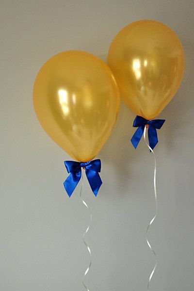 Balloons With Ribbon Beauty And The Beast Birthday Party