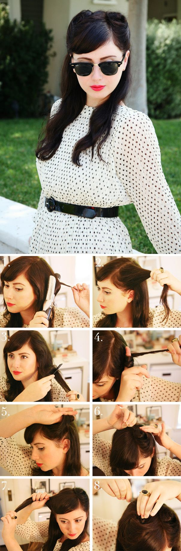 easy retro hair tutorials from pinterest s hair hair and
