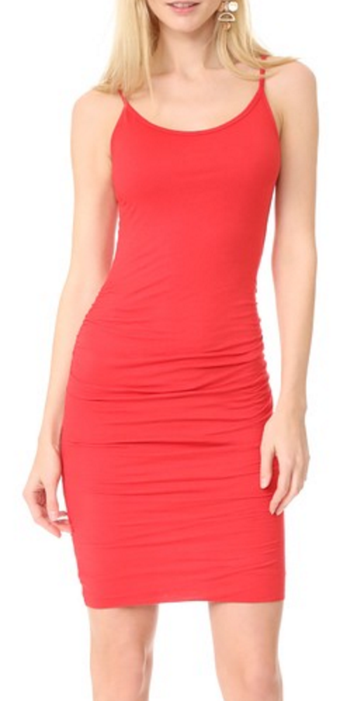 Velvet bodycon tank dress
