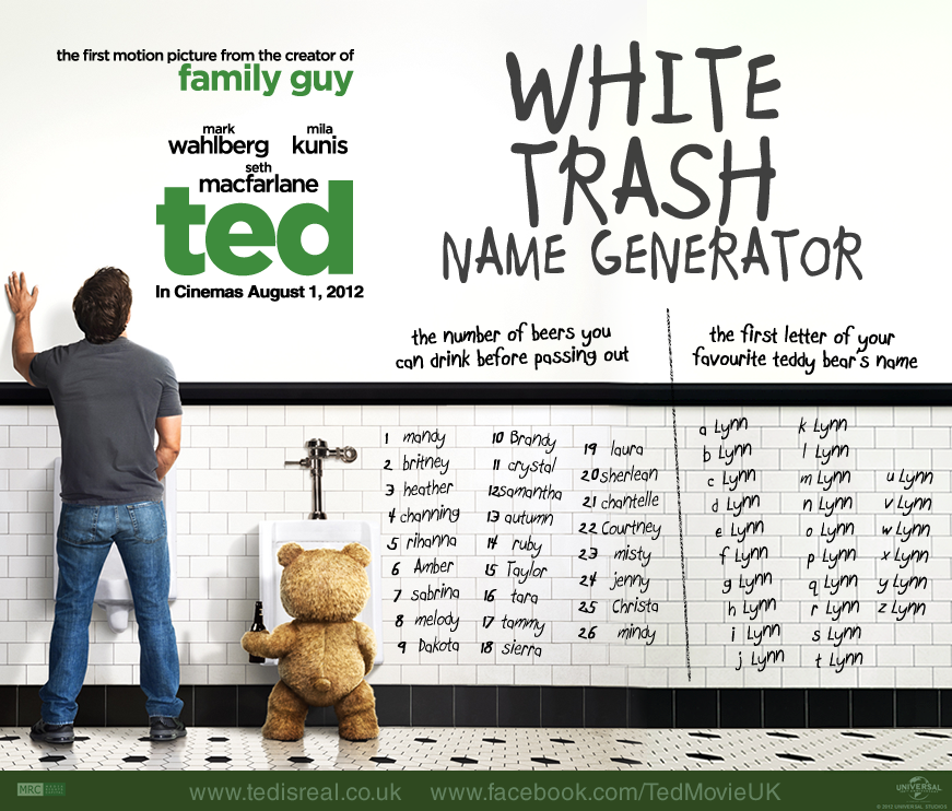 White Trash Name Generator! Ted's Stuff Pinterest