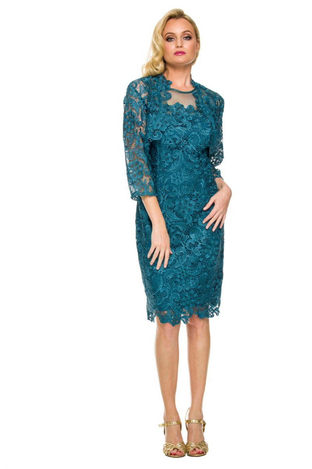 Funky Mother Of The Bride Dress With Jacket Plus Size Ornament - All ...