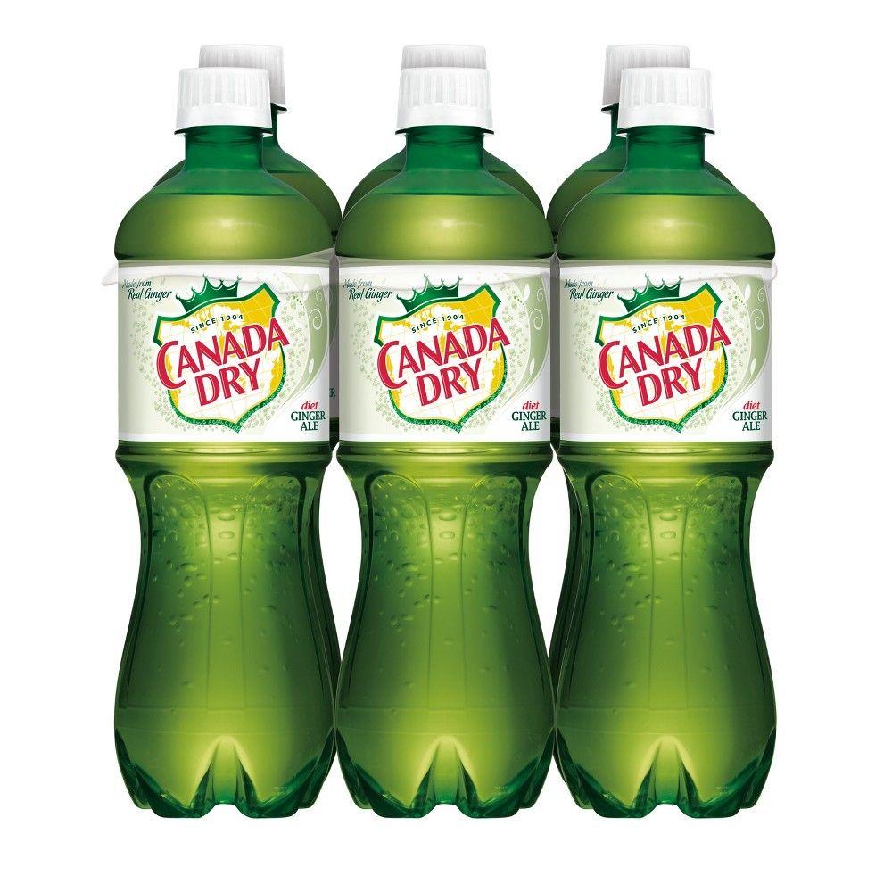Canada Dry Zero Sugar Ginger Ale Soda 5 L Bottles 6 Pack Dry Ginger Ginger Ale Ale