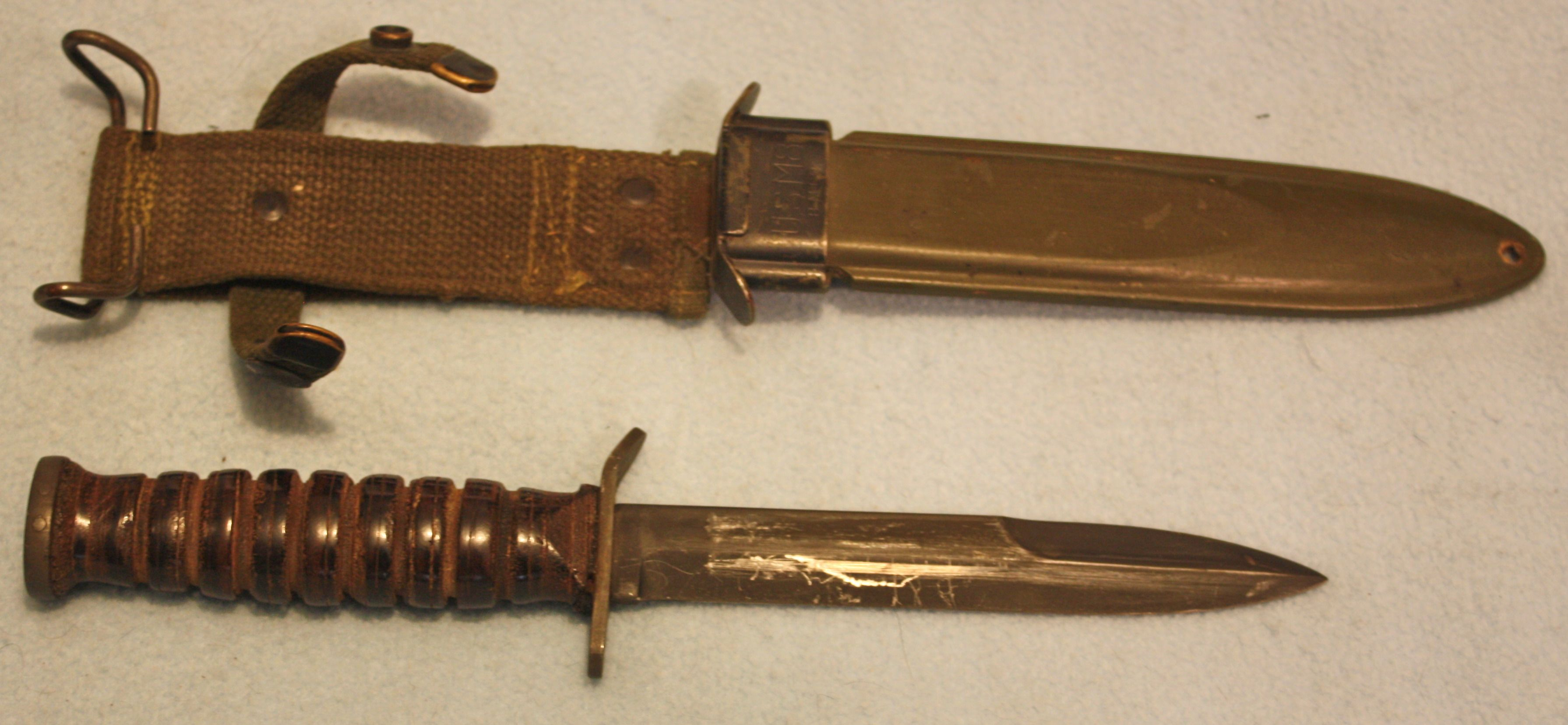 Us M3 Trench Knife Camillus With M8 Scabbard World War