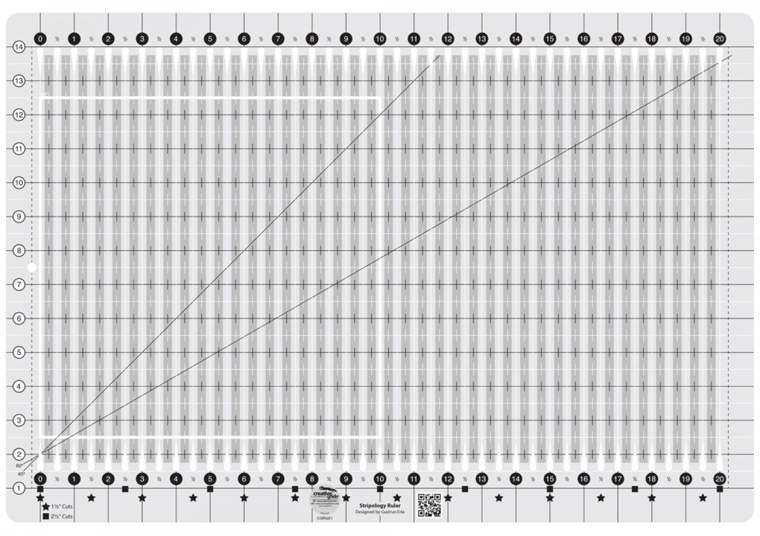 Creative Grids Stripology Quilting Ruler makes cutting a no-brainer ...