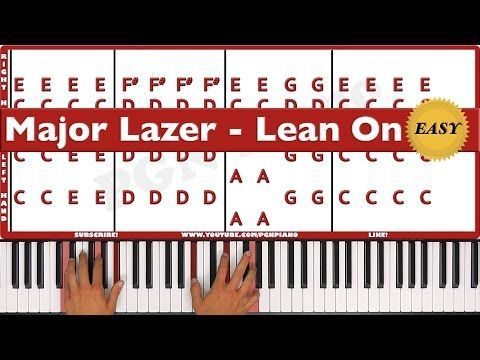 Easy How To Play Lean On Major Lazer Piano Tutorial Lesson