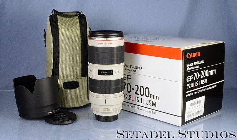Canon EF 70-200mm F2.8L IS II USM Lens w/ Box +Case Mint