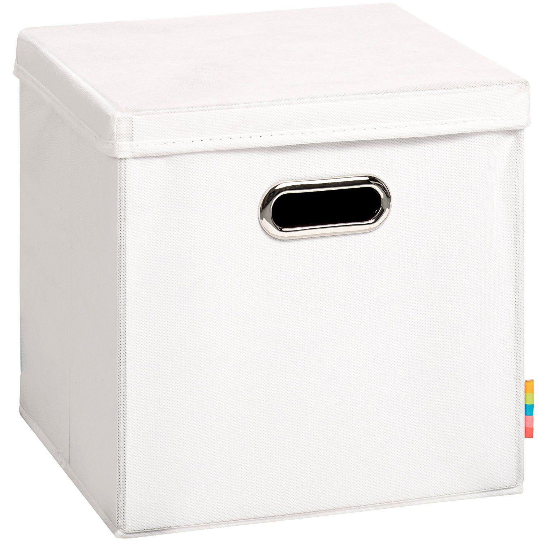 H S Aufbewahrungsbox Mia Mit Deckel Faltbox Korb 28x28x28 Cm