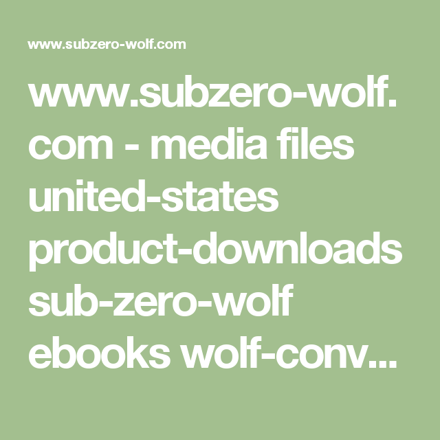Wolf oven user manual ebook array www subzero wolf com media files united states product downloads rh pinterest com fandeluxe Gallery
