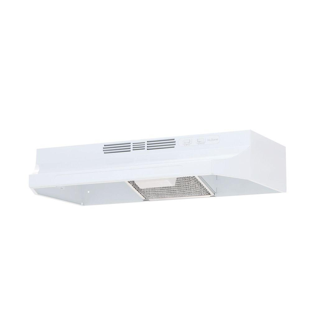 Broan Nutone Rl6200 Series 30 In Ductless Under Cabinet Range Hood With Light In White Rl6230wh The Home Depot Non Vented Range Hood Under Cabinet Range Hoods Range Hood
