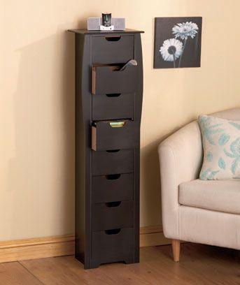 8 Drawer Slim Storage Units Apartment Storage Cabinet