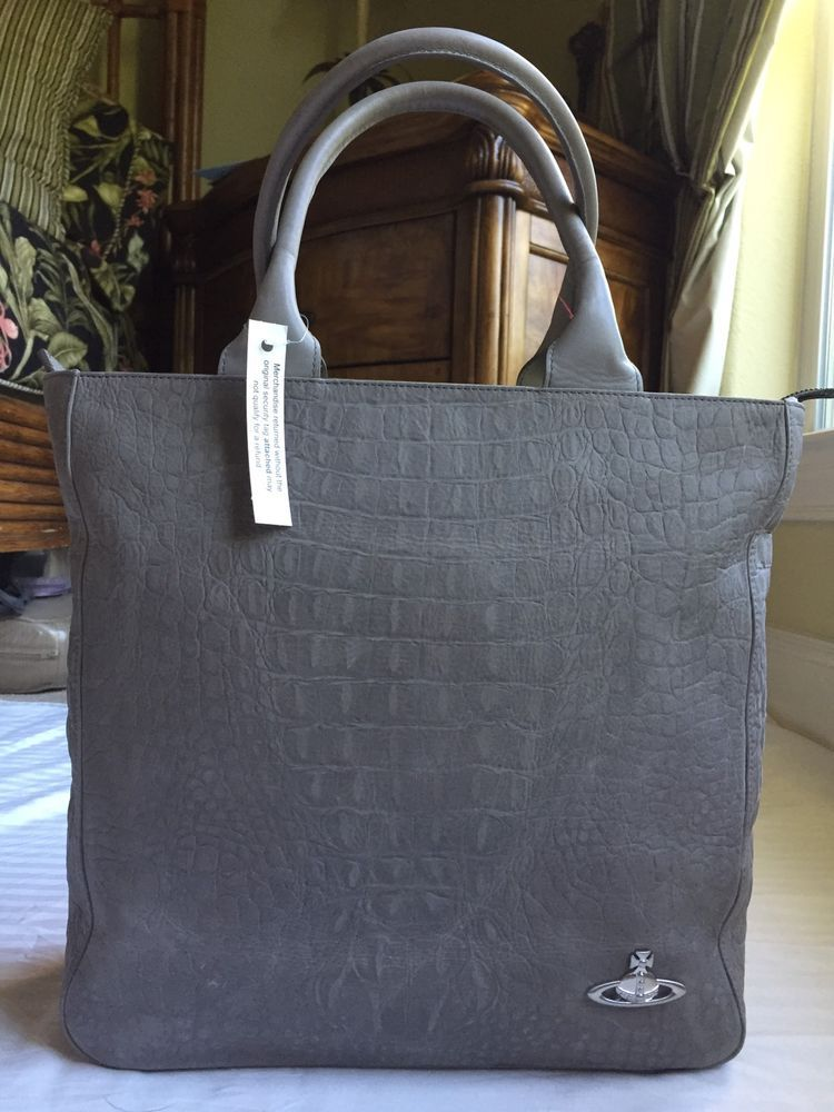 b4e7480b40 VIVIENNE WESTWOOD Women s AMAZON GREY Tote BAG NEW Made in ITALY FREE  SHIPPING