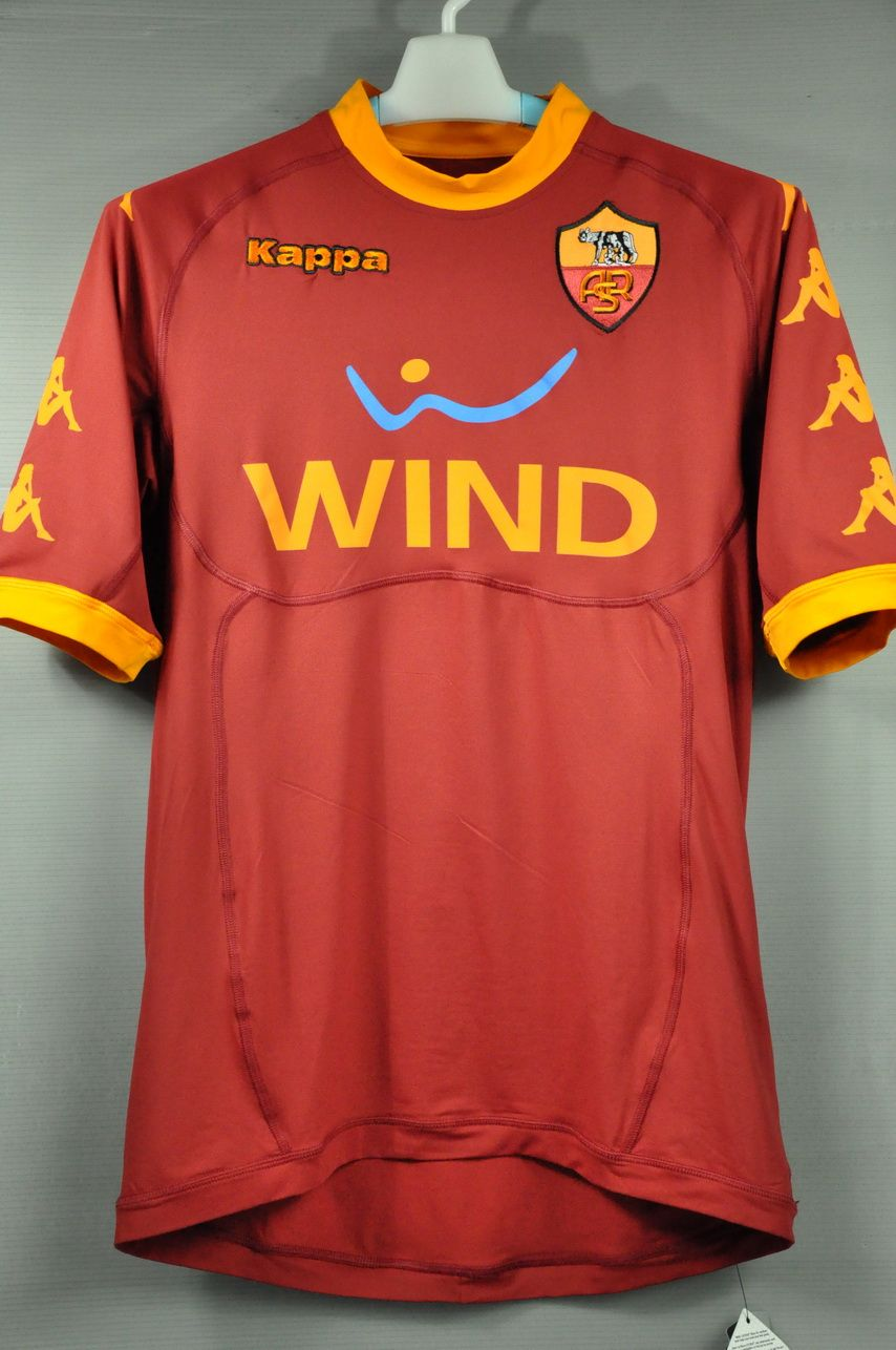 AS Roma Home Kappa Jersey Shirt Italy Series A 2011