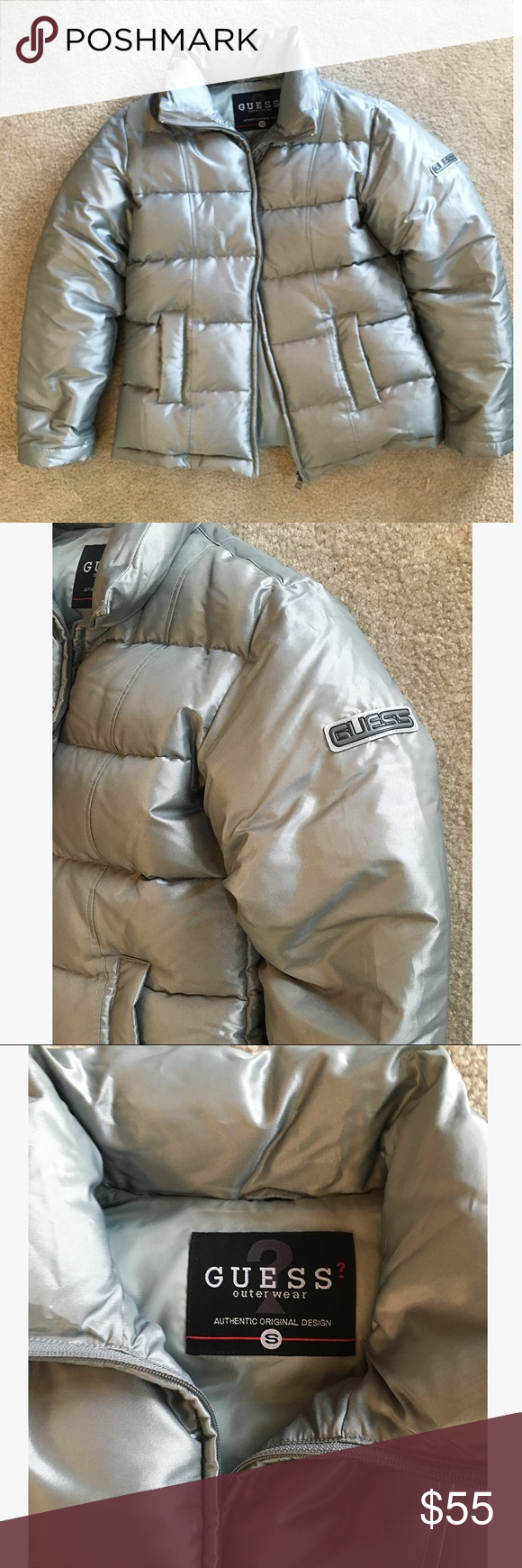 Guess Silver Puffer Jacket Silver Puffer Jacket Puffer Jackets [ 1740 x 580 Pixel ]