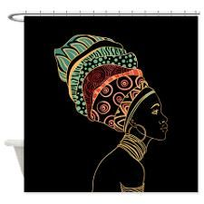 African Woman Shower Curtain