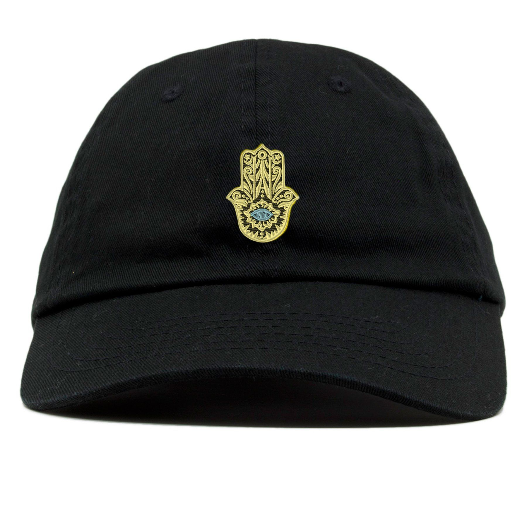 61a2f0a454bac Hamsa Hand of Fatima Protective Amulet Black Dad Hat