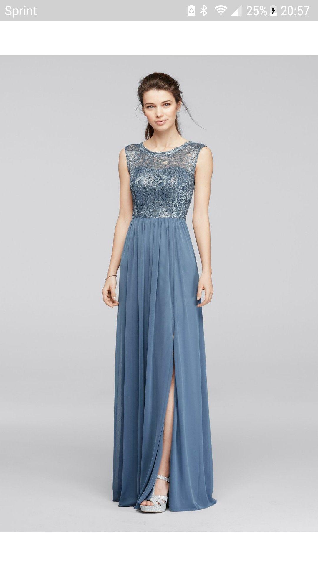 Steel Blue Bridesmaid Dresses | Steel Blue Metallic Wedding Planning Bridesmaid Dresses