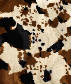 Tan Cow Velboa Faux Fur Fabric - $7.2 | onlinefabricstore.net