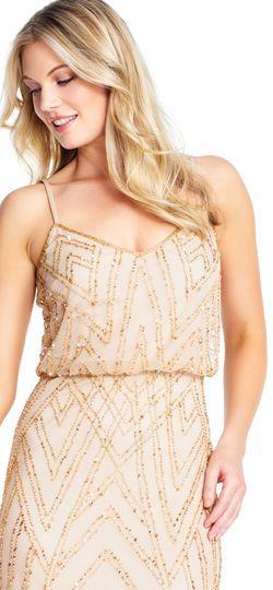 3feda6f829 Diamond Beaded Blouson Dress