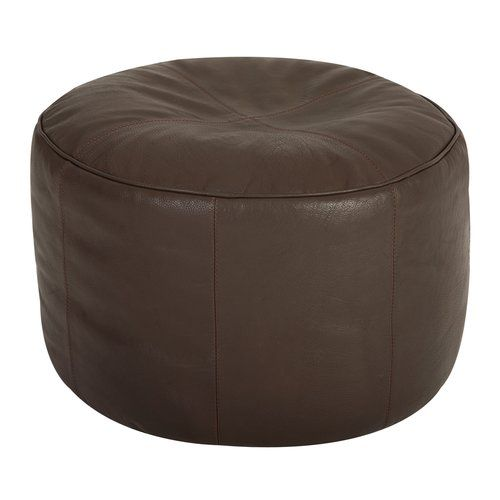 Borough Wharf Cogbill Leather Pouffe Leather Footstool Leather Upholstery Fabric Velvet Footstool