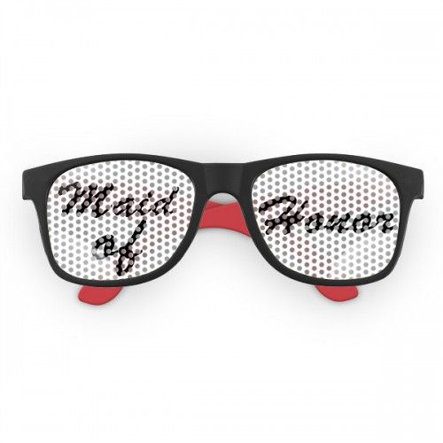 Custom printed wedding favor printed lens rubberized sunglasses w 16 colors
