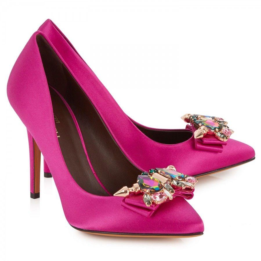 Bridal Shoes Harvey Nichols: BRUNO MAGLI X Mawi Koroneia Crystal Satin Pumps, High
