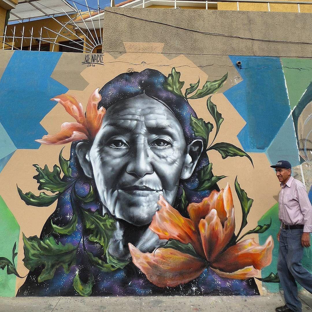 "joe nadie ""Time and yeards"" Mural hecho en arequipa - Perú 4/2016 #streetart #artwork #street #graffiti #arequipa #peru #joenadie"