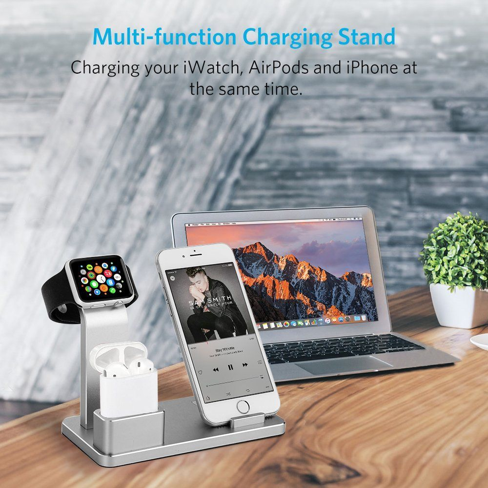 Apple Watch Stand Aluminum Airpods Charging Docks iPhone Charging Station iPad Functional Stand for