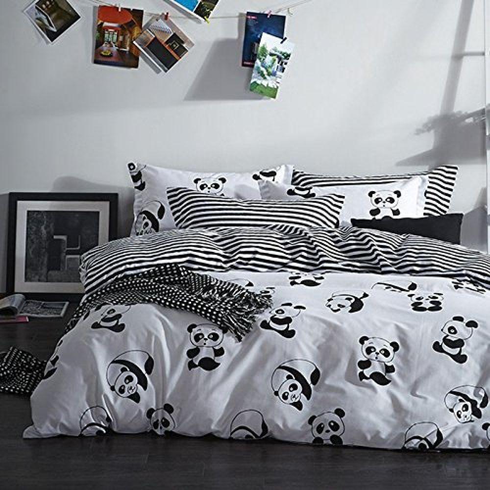 Panda Black And White Duvet Cover Bedding Set Price 94 16 Free Shipping Beautiful Interiors Architectur White Duvet Covers White Duvet Duvet Bedding Sets