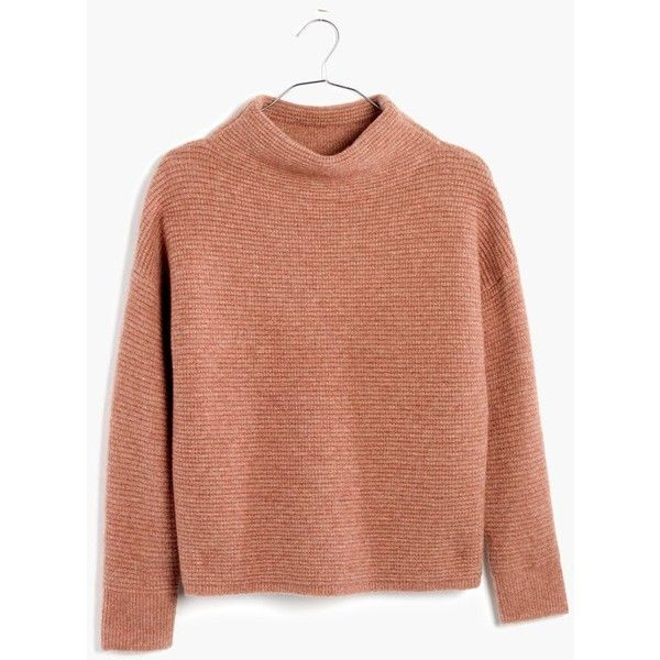 A reach-for-it-daily mockneck in a supersoft and cozy new yarn. With its  easy cocoon shape, it's a sweater made for snuggling.